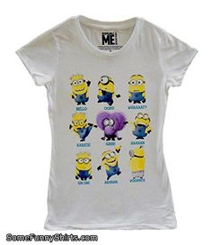 Despicable Me Ladies Fitted/Juniors Minion Talk T-Shirt Large White