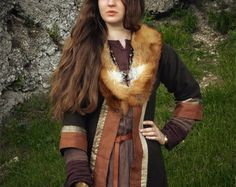 Early medieval coat for woman viking slav by DaleboraCrafts