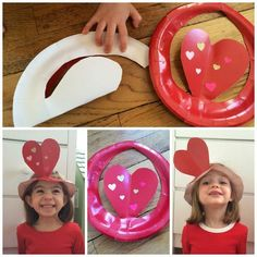 Silly Heart Hats.  Fun Craft for Valentine's Day || The Chirping Moms: 35 Valentine Crafts & Activities for Kids