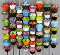 I Love Cupcakes Lampwork Beads