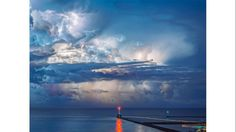 2015 It's Amazing Out There Photo Contest Finalists - weather.com.  Sky over Lake Michigan during a storm.