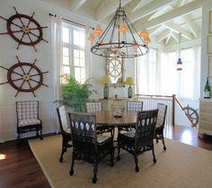 Nostalgic Nautical Style in a Seaside Cottage Lake Cottage, Coastal Cottage, Coastal Homes, Cottage House, Coastal Decor, Cottage Style, Nautical Wall Decor, Nautical Home, Nautical Style