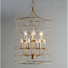 Architectural & Garden Chandelier 6 Lights Arms Ceiling Light Lamp Metal Tin Look Hobnails Very Rare Convenient To Cook