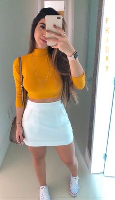 Cute Skirt Outfits, Cute Comfy Outfits, Classy Outfits, Stylish Outfits, Cool Outfits, Baddie Outfits Casual, Vetement Fashion, Girl Fashion, Fashion Outfits
