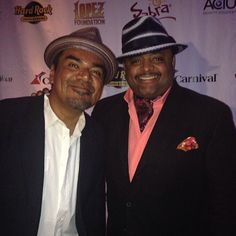 George Lopez wearing a modehaute hat