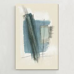 I can't afford this particular painting right now, but it would be cool to have something like this in my new living room! | Oversized Abstract Wall Art #westelm
