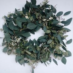 Am going to be making this but with spring flowers to add some color - head to post to find out how to make a DIY eucalyptus wreath