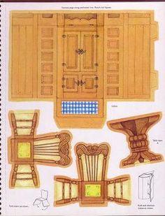 Hallmark Storybook Playhouse - Lorie Harding - Picasa Web Albums by mari Paper Furniture, Doll Furniture, Dollhouse Furniture, 3d Paper, Paper Toys, Paper Crafts, Paper Doll House, Paper Houses, Vitrine Miniature