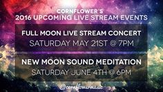 Happy New Moon to my FlowerSeeds Community.  As many of you know Im heading out on a one month tour with Jai-Jagdeesh on April 11th and I am having to put postpone my live stream for tonight's TimeSpace New Moon Sound Meditation to focus on tour preparation.  The next Live Stream will be the 5/21 Full Moon Live Stream Concert w/ Cornflower on Saturday May 21st at 7pm PDT (free all ages) and then the next 6/4 TimeSpace New Moon Sound Meditation w/ Cornflower will be on Saturday June 4th at…