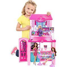 Barbie Real Casa com Boneca 2013 Mattel