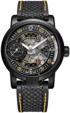 Armin Strom Armin Double Barrel Gumball 3000 Black PVD Titanium on Watch Agora Trendy Watches, Latest Watches, Cool Watches, Watches For Men, Men's Watches, Fancy Watches, Analog Watches, Popular Watches, Antique Watches