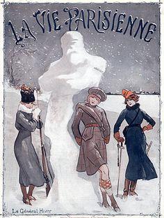 La Vie Parisienne Rene Prejelan 1915 The Winter General Snowman illustrated by René Préjelan   Hprints.com