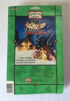 New Plaid Gallery Glass Stained Glass Craft Kit Christmas Cottage Village Mill 19214