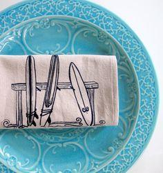 Surfboard Kitchen Towel