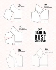 dahlia bust adjustments for a raglan Sewing Hacks, Sewing Tutorials, Sewing Projects, Sewing Tips, Sewing Ideas, Techniques Couture, Sewing Techniques, Clothing Patterns, Sewing Patterns
