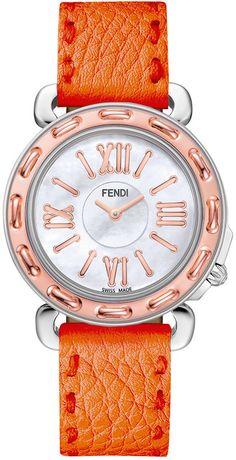 Fendi Timepieces Women's Swiss Selleria Two-Tone Stainless Steel Watch Head 37mm