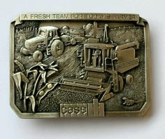 VINTAGE CASE TRACTOR BRASS PEWTER BELT BUCKLE 1986 LIMITED EDITION NEW IN BOX in Clothing, Shoes & Accessories   eBay