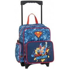 """ΣΑΚΙΔΙΟ ΤΡΟΛΕΙ ΝΗΠΙΑΓΩΓΕΙΟΥ SUPERMAN READY FOR ACTION Πρόκειται για ένα σακίδιο τρόλεϊ νηπιαγωγείου """"SupermanReady for Action"""" από την εταιρία Graffiti. Αποτελείται από μια κύρια θήκη και μια πιο μικρή στην μπροστινή πλευρά, που κλείνουν με φερμουάρ. Διαθέτει επίσης και δύο θήκες στο πλάι, μια για το μπουκάλι νερού και μια σαν πορτοφολάκι, που κλείνει με φερμουάρ, Η τσάντα μπορεί να χρησιμοποιηθεί κατά την σχολική περίοδο, είτε με τον μηχανισμό του τρόλεϊ, είτε φορεμένη στην πλάτη, με…"""