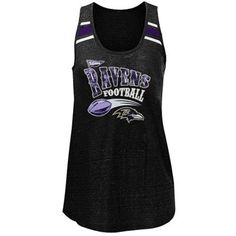 Baltimore Ravens Ladies Tri-Blend Scoop Neck Racerback Tank Top - Black  Tampa Bay Buccaneers b8a06fb39