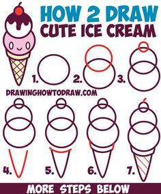 Easy drawings for kids, sketching for kids, food drawing easy, cute food drawings Drawing Pictures For Kids, Easy Pictures To Draw, Drawing Videos For Kids, Easy Drawings For Beginners, Drawing Tutorials For Kids, Easy Drawings For Kids, Simple Pictures, Drawing Lessons, Simple Drawings