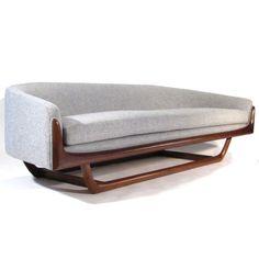 Adrian Pearsall; #2834-S Walnut Sofa for Craft Associates, 1950s.