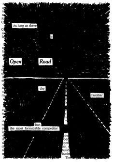 Open Road by Austin Kleon - interesting design