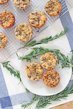 Mini Mushroom, Goat Cheese, and Rosemary Quiches