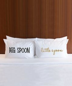 'Big Spoon' & 'Little Spoon' Pillowcase - Set of Two by Z Create Design #zulily #zulilyfinds
