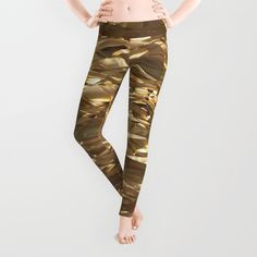 'Golden Crinkle' leggings by LLL Creations.  This design is available in many different products.    #society6 #society6_products #LLLCreations #leggings