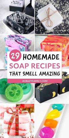 29 DIY Homemade soap recipes you need to make! These soap recipes smell amazing and look fantastic! Soap Making Kits, Soap Making Recipes, Lush Soap, Lavender Soap, Handmade Soap Recipes, Handmade Soaps, Homemade Soap Bars, Peppermint Soap, Savon Soap