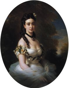 """Portrait of an American Lady"" by Franz Xavier Winterhalter (1805-1873)."