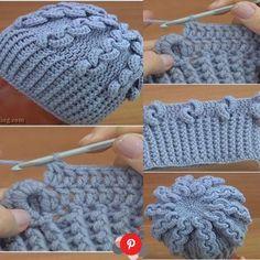 Crochet hats 491596115576906945 - Tutos de Bonnets au Crochet Source by Crochet Beret Pattern, Bonnet Crochet, Crochet Beanie Hat, Crochet Gloves, Crochet Scarves, Knitted Hats, Beanie Pattern, Crochet Waffle Stitch, Crochet Crocodile Stitch