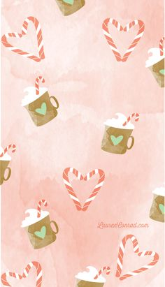 Inspired Idea: Winter Tech Wallpapers Peppermint Cocoa tech wallpaper by YellowHeartArt on Christmas Background Desktop, Christmas Phone Wallpaper, Cute Wallpaper For Phone, Wallpaper S, Pattern Wallpaper, Wallpaper Ideas, Cute Christmas Backgrounds, Christmas Lockscreen, Christmas Desktop