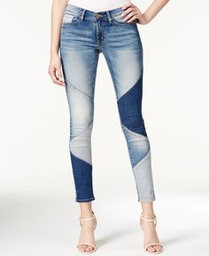 Elevate your denim looks with the quirky Faith jeans by Buffalo David Bitton featuring allover patchwork. | Cotton/polyester/viscose/spandex | Machine washable | Imported | Mid rise | Skinny fit throu