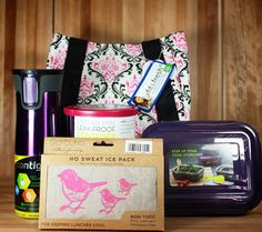 Pack a healthy lunch and keep it perfectly fresh until you arrive to work or school with these pretty pink and purple lunch containers, travel mug, ice pack and lunch bag! The So Young Pink Birds Ice Pack offers vintage style and is perfect for kids and adult lunches. The non-toxic Ice Pack will also help keep foods cool until you are ready for them!