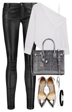 """""""Unbenannt #2268"""" by luckylynn-cdii ❤ liked on Polyvore featuring Maje, Dion Lee, Yves Saint Laurent, Jimmy Choo and Miss Selfridge"""