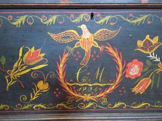 Decorated Chest (SOLD) | Olde Hope Antiques
