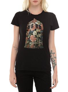 Doctor Who Floral TARDIS Girls T-Shirt | Hot Topic