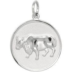 Sterling Silver Ox Charm, Women's