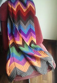 Hand made crochet blanket, South West Style at mantasdeganchillo.wordpress.com