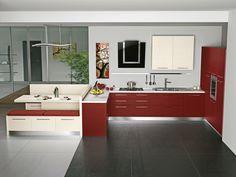 IDEA BASIC IN MELAMINICO..ELEGANZA E PRATICITA' DEL MODERNO! Ieri vi abbiamo mostrato una soluzione con panca con cassetti e lato schienale progettata perla nostra #IdeaBasic in Melaminico! Oggi ve la mostriamo tutta nella versione RED! #Cucina #CucinaVismap #CucineComponibili #Vismap #CucineModerne #Kitchen