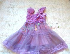 Easter Dress, Flower girl dress, Lilac Plum Chiffon Lace Dress,Easter Girls dress,baby dress,Birthday dress, Easter Sunday , Lavender dress,