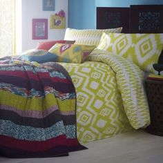 Lime Ikat bed linen at debenhams.com