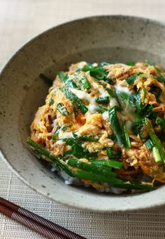 Japanese tuna and chive omelette