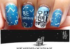 Be Curious (Stephen Hawkings Inspired) #stephenhawkings #becurious #space #handpainted #nailart