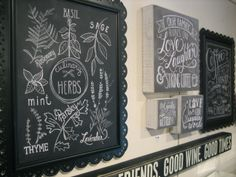 These chalkboard inspired signs are charming and beautiful. #calligraphy #handlettering #chalk #prints #home #decor #elq1963 #elquetzal #chestnuthill #ardmore #shoplocal