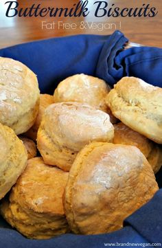 Homemade Vegan Buttermilk Biscuits with no oil, dairy, eggs, or butter. These could quite possibly be the HEALTHIEST Vegan Biscuits around!