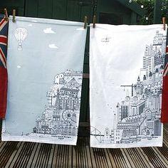 Cityscape Tea Towels