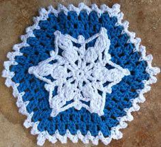Snowflake Crochet Dishcloth By Maggie Weldon - Free Crochet Pattern With Website Registration - (bestfreecrochet)