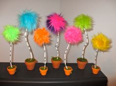 Truffula Tree MEDIUM 9 to 11 inches inspired by Dr Seuss by FUREEK